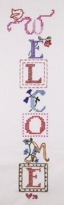 Susan Branch Welcome Banner - Stamped Cross Stitch Kit