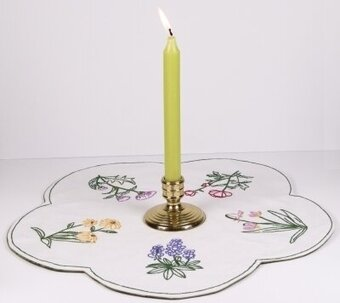 Wildflowers Table Topper - Embroidery Kit