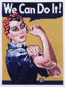 Rosie the Riveter - Cross Stitch Kit