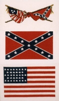 Flags of the Civil War - Cross Stitch Kit