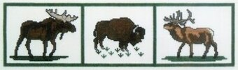 Grand Teton Wildlife Sampler - Cross Stitch Kit