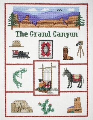 Grand Canyon Sampler - Cross Stitch Kit