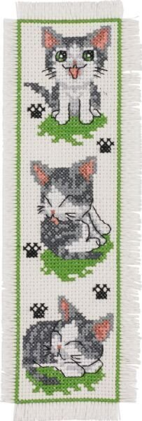 Kitty Cat Bookmark - Cross Stitch Kit