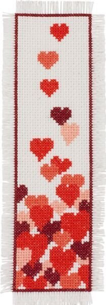Hearts Bookmark - Cross Stitch Kit