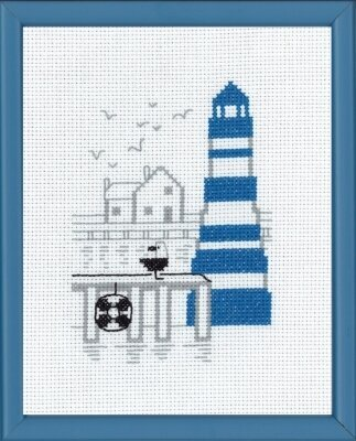 Blue Light Tower - Cross Stitch Kit