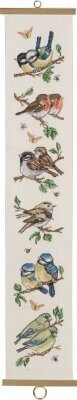 Birds Garden Bellpull - Cross Stitch Kit