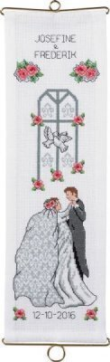Wedding Announcement Bellpull - Cross Stitch Kit