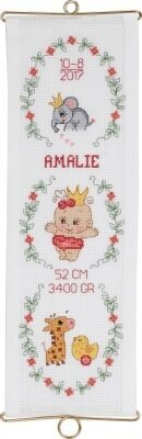Girl Birth Announcement - Cross Stitch Kit