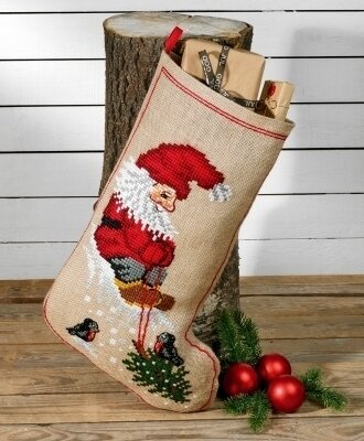 Elf & Christmas Tree Stocking - Cross Stitch Kit