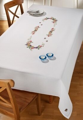 Tulips Tablecloth - Cross Stitch Kit