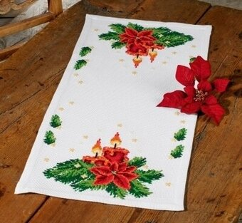Christmas Lighting Table Runner - Cross Stitch Kit