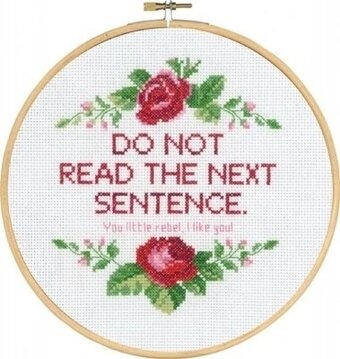 Do Not Read - Cross Stitch Kit