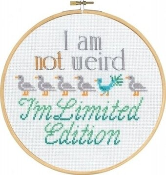 I'm Not Weird - Cross Stitch Kit