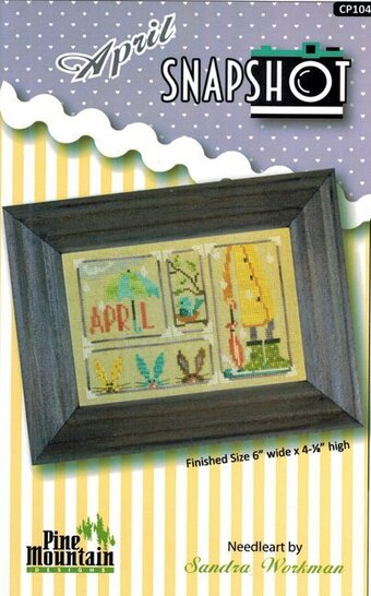 April Snapshot - Cross Stitch Pattern