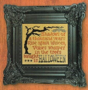 Shadows Of Halloween Linen - Cross Stitch Kit