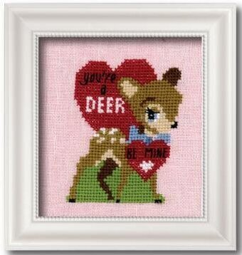 Vintage Valentine Linen - Cross Stitch Kit