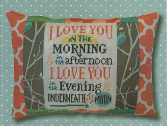 Underneath the Moon Pillow - Cross Stitch Kit