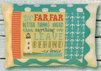Far Far Better Things Pillow - Cross Stitch Kit