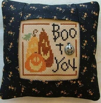 Boo to You Pillow Kit - Cross Stitch Kit