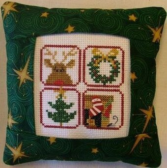 Christmas Foursome Pillow Kit - Cross Stitch Kit