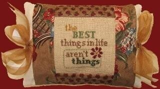 Best Things Pillow - Cross Stitch Kit