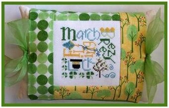 March Expressions Pillow - Cross Stitch Kit