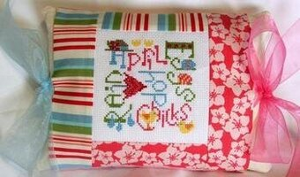 April Expressions Pillow - Cross Stitch Kit