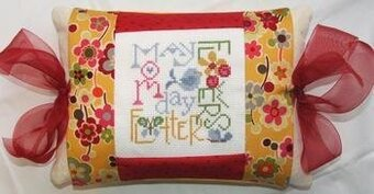 May Expressions Pillow - Cross Stitch Kit