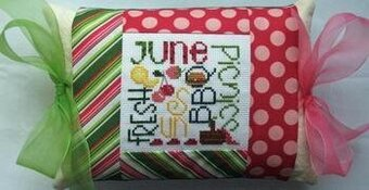 June Expressions Pillow - Cross Stitch Kit