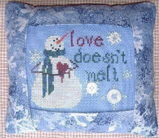 Love Doesn't Melt Pillow - Cross Stitch Kit