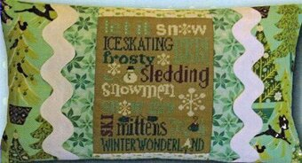 Winter Typography Pillow - Cross Stitch Kit