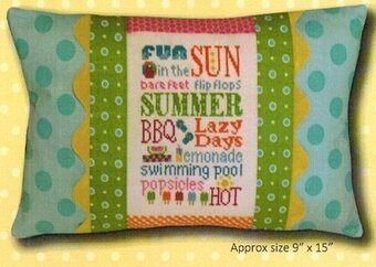 Summer Typography Pillow - Cross Stitch Kit