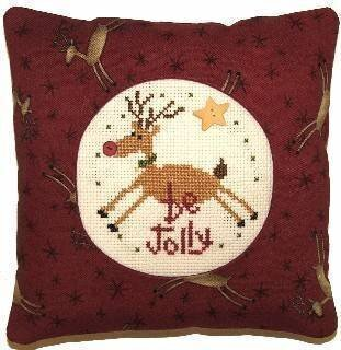 Be Jolly Pillow Kit - Cross Stitch Kit