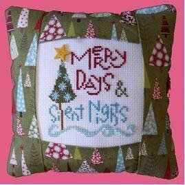 Merry Days Pillow Kit - Cross Stitch Kit