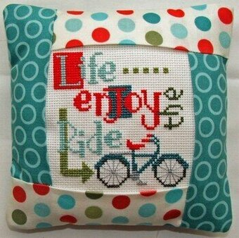 Enjoy the Ride Pillow Kit - Cross Stitch Kit
