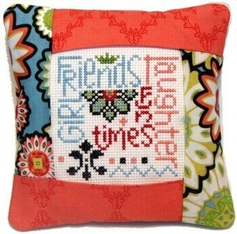 Girlfriends Pillow Kit - Cross Stitch Kit