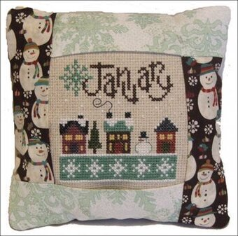 January 2011 Small Pillow Kit - Cross Stitch Kit
