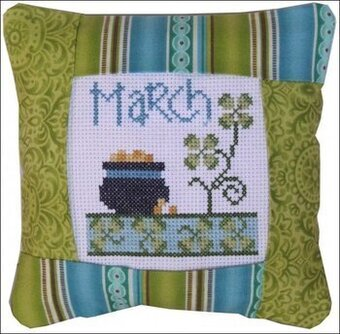 March 2011 Small Pillow Kit - Cross Stitch Kit