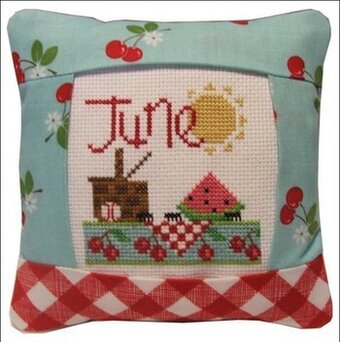 June 2011 Small Pillow Kit - Cross Stitch Kit