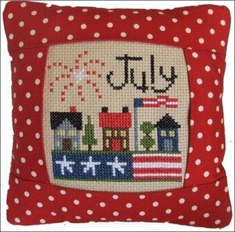 July 2011 Small Pillow Kit - Cross Stitch Kit