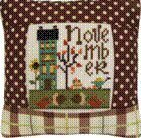 November 2011 Small Pillow Kit - Cross Stitch Kit