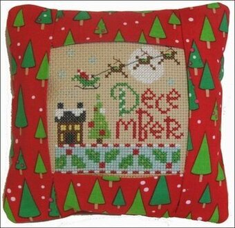 December 2011 Small Pillow Kit - Cross Stitch Kit