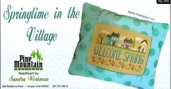 Springtime in the Village - Cross Stitch Kit