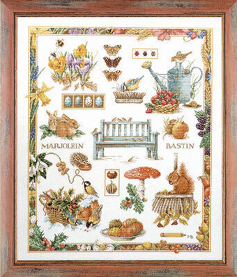 M.B. Collage by Marjolein Bastin - Cross Stitch Kit