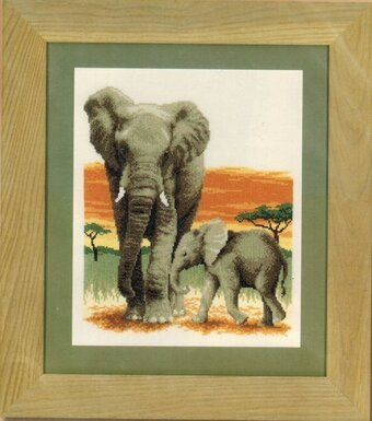 Elephant's Journey - Cross Stitch Kit