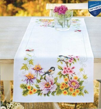 Spring Mood Table Runner   Counted Cross Stitch Kit