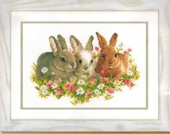 Flower Bunnies - Cross Stitch Kit
