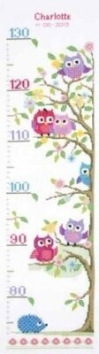 Little Owls Tree Height Chart - Cross Stitch Kit