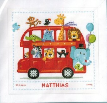 Safari Bus - Cross Stitch Kit