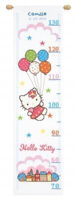 Hello Kitty Height Chart - Cross Stitch Kit